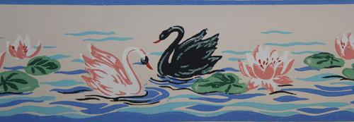 Trimz Vintage Wallpaper Border Swan