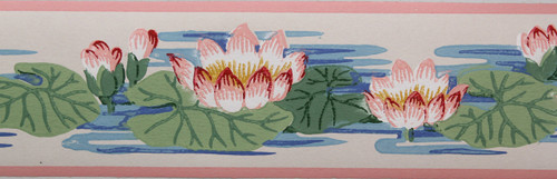 Trimz Vintage Wallpaper Border Lily Pad
