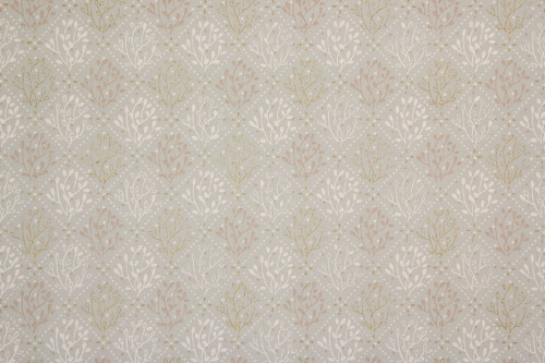 1960s Vintage Wallpaper Pink and Gold Metallic Geometric on Gray