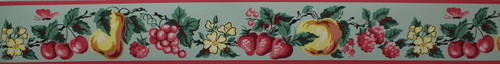 Imperial Vintage Wallpaper Border Fruit Green
