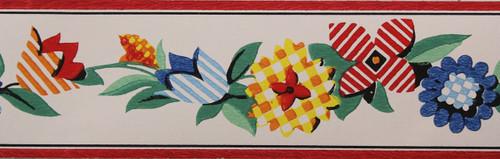 Trimz Vintage Wallpaper Border Calico Floral