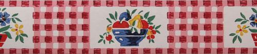 Trimz Vintage Wallpaper Border Gingham Red