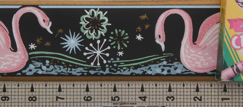 Trimz Vintage Wallpaper Border Swan Pink