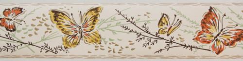 Trimz Vintage Wallpaper Border Butterfly