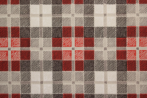 1950s Vintage Wallpaper Red and Black Plaid
