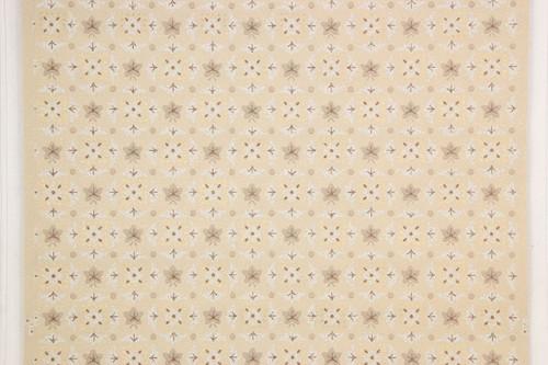 1950s Vintage Wallpaper Beige Geometric