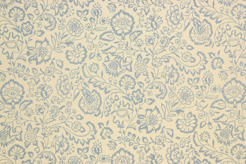 1960s Vintage Wallpaper Blue Floral