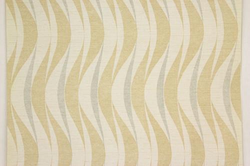 1970s Retro Vintage Wallpaper Beige Gray Wavy Lines