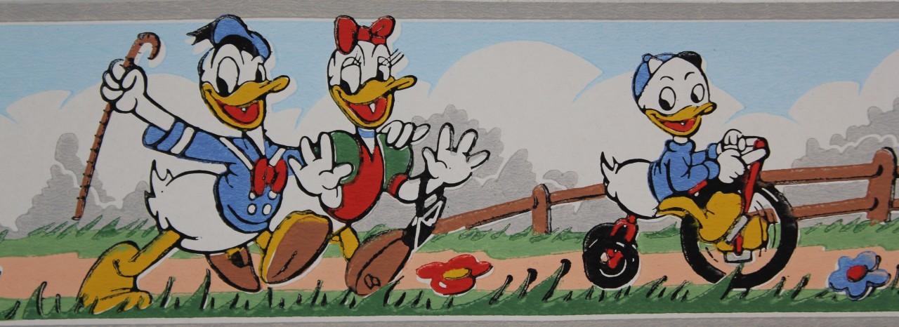 Dex Vintage Wallpaper Border Disney Donald Duck ... - Dex Vintage Wallpaper Border Disney Donald Duck - Rosie's Vintage