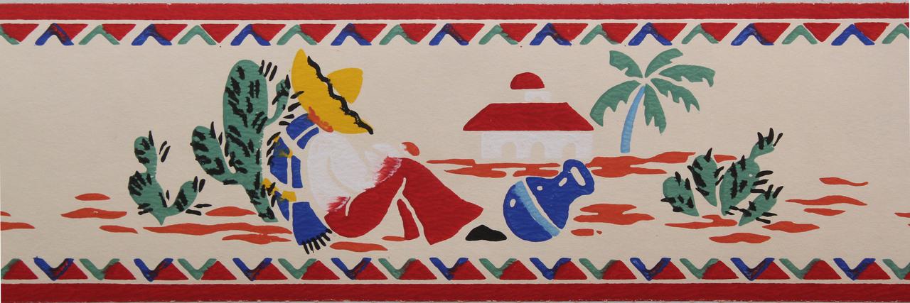 Trimz Vintage Wallpaper Border Mexican ... - Trimz Vintage Wallpaper Border Mexican - Rosie's Vintage Wallpaper