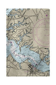 Cambridge, MD Nautical Map Beach Towel