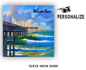 Welcome Home Personalized Metal Sign