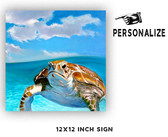 Honu Personalized Metal Sign