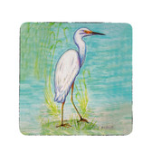 Snowy Egret Coasters - Set of 4