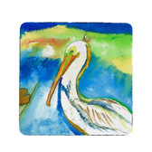 White Pelican Coasters - Set of 4