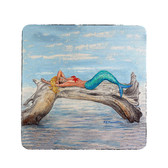 Mermaid on Log Coasters - Set of 4