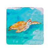 Brown Sea Turtle Coasters - Set of 4