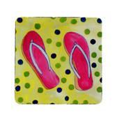 Flip Flops Coasters - Set of 4