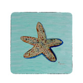 Aqua Starfish Coasters - Set of 4