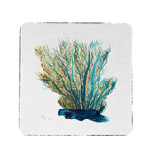 Blue Coral Coasters - Set of  4