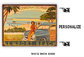 Newport Beach Personalized Metal Sign