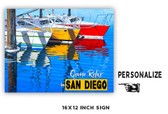 Come Relax Personalized Metal Sign