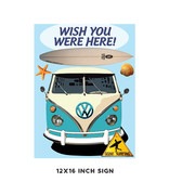 Wish You Were Here Metal Sign