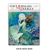 Mermaid Weekly Metal Sign