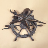 Octopus and Ship's Wheel Wall Plaque