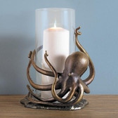 Octopus Hurricane Lantern Candle Holder