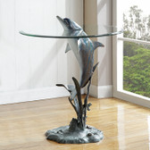 Surfacing Dolphin End Table