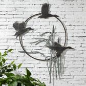 Crane Trio Garden Wall Hanging