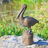 Feathered Fisherman Garden Sculpture - Pelican