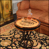 Quarter Barrel Coffee Table - Whiskey - Personalized