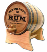 Pirate Rum  Oak Barrel - Personalized
