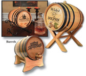 Oak Barrel with Custom Art
