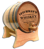 Distillery Design Oak Barrel - Personalized