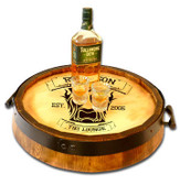 Tiki Lounge Quarter Barrel Serving Tray - Personalized