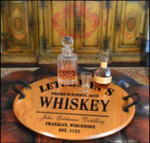 Whiskey Design Barrel Head Serving Tray  - Personalized