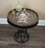 Barrel Head End Table - Pirate