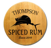 Personalized Sailfish Barrel Head Sign - 21""