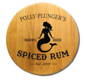 Personalized Mermaid Barrel Head  Sign - 21""