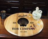 Barrel Head Lazy Susan - Shell - Personalized