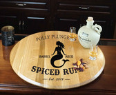 Barrel Head Lazy Susan - Mermaid - Personalized