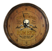 Quarter Barrel Clock - Rum Bar - Personalized
