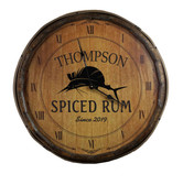 Quarter Barrel  Clock - Sailfish - Personalized