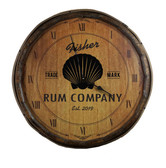 Quarter Barrel  Clock - Shell - Personalized
