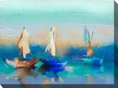 Cerulean Sea Outdoor Canvas Art