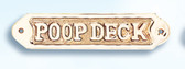 Brass Nautical Wall Plaque - Poop Deck