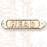 Brass Nautical Wall Plaque - Head